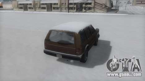 Landstalker Winter IVF for GTA San Andreas left view