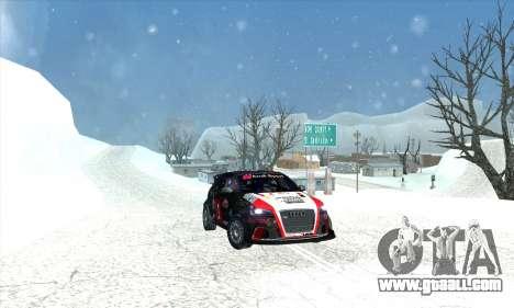 Audi RS3 Sportback Rally WRC for GTA San Andreas engine