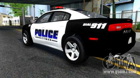 Dodge Charger Rittman Ohio Police 2013 for GTA San Andreas back view