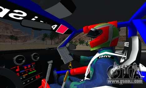 Audi RS3 Sportback Rally WRC for GTA San Andreas