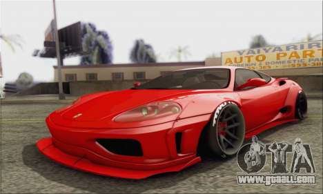 Ferrari 360 LB Work for GTA San Andreas
