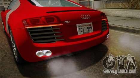 Audi R8 Coupe 4.2 FSI quattro EU-Spec 2008 YCH2 for GTA San Andreas interior