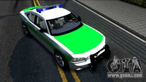 Dodge Charger German Police 2008 for GTA San Andreas right view