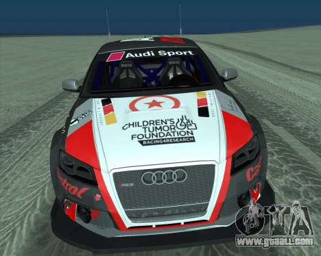 Audi RS3 Sportback Rally WRC for GTA San Andreas inner view