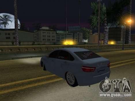 LADA Vesta BPAN for GTA San Andreas back view