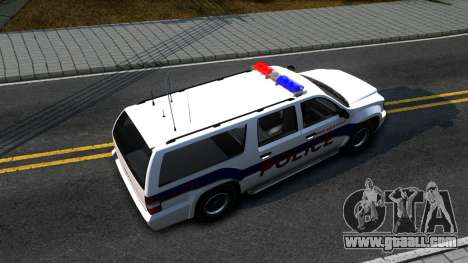 Declasse Granger Metropolitan Police 2012 for GTA San Andreas right view