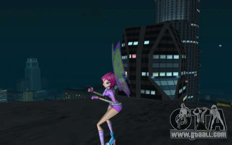 Tecna Believix from Winx Club Rockstars for GTA San Andreas second screenshot