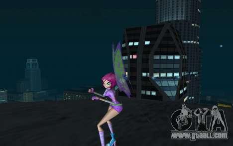 Tecna Believix from Winx Club Rockstars for GTA San Andreas