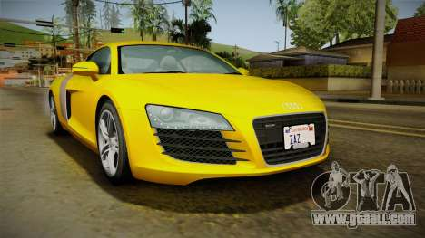 Audi R8 Coupe 4.2 FSI quattro EU-Spec 2008 Dirt for GTA San Andreas back left view