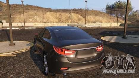 GTA 5 Mazda 6 2016 right side view