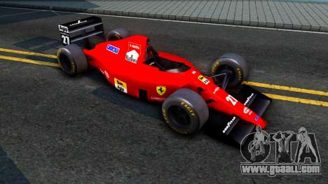Ferrari 640 F1 1989 for GTA San Andreas left view