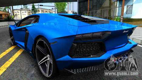 Lamborghini Aventador LP700-4 Light Tune for GTA San Andreas back left view