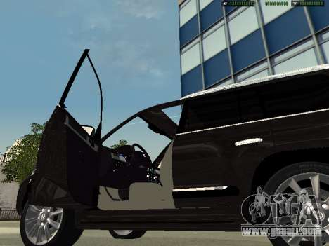 Lexus LX 570 2011 for GTA San Andreas back left view