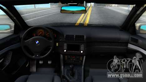 BMW 530D E39 for GTA San Andreas inner view