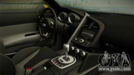 Audi R8 Coupe 4.2 FSI quattro EU-Spec 2008 Dirt for GTA San Andreas inner view