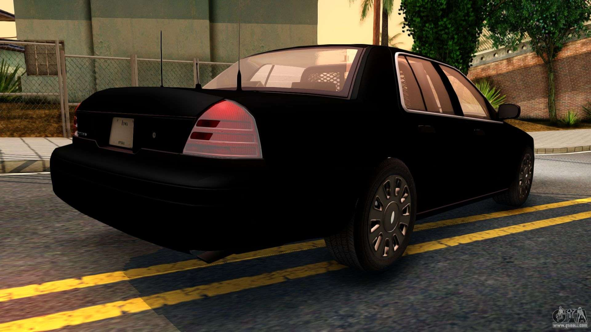Ford Crown Victoria Detective  For Gta San Andreas Back Left View