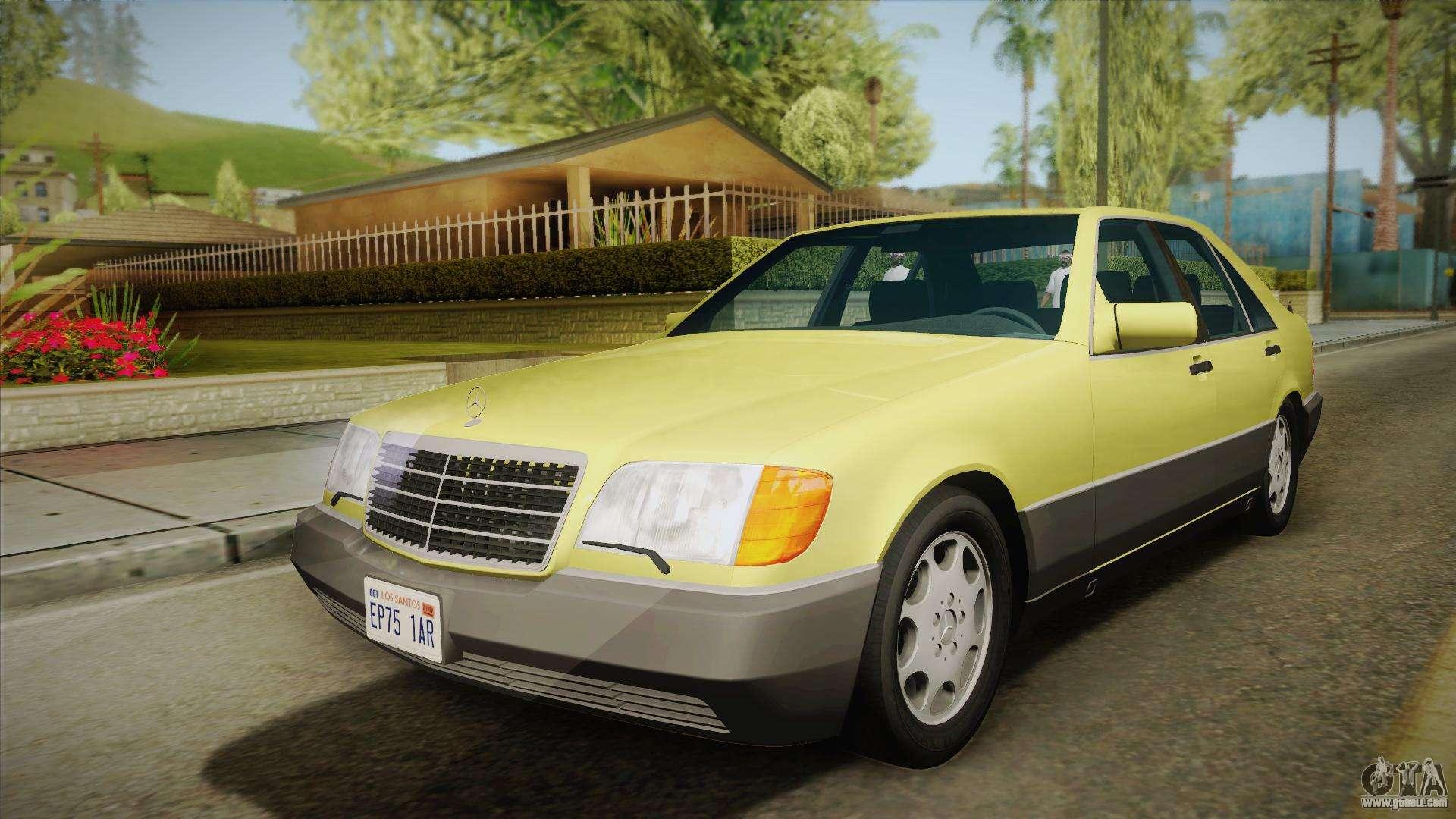 Mercedes benz 500se 1991 v1 1 for gta san andreas for Mercedes benz 500se
