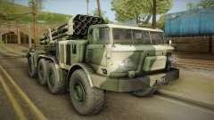 BM-27 Uragan (9P140) for GTA San Andreas