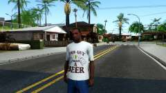 White Beer T-Shirt for GTA San Andreas