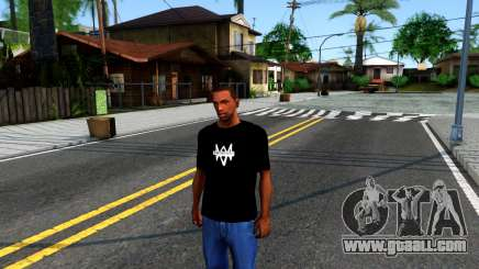 T-Shirt Watch Dogs 2 for GTA San Andreas