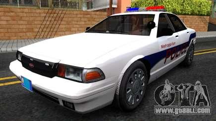 Vapid Stanier Metropolitan Police 2009 for GTA San Andreas