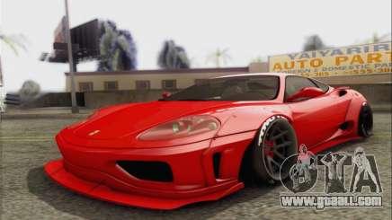 Ferrari 360 LB Work for GTA San Andreas