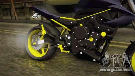 Yamaha XJ6 for GTA San Andreas inner view