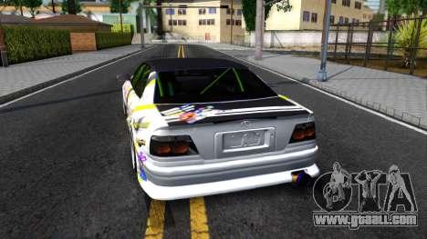 Toyota Chaser Seulbi Lee Itasha Drift for GTA San Andreas back left view