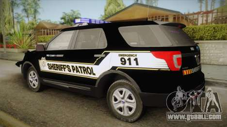 Ford Explorer 2016 Red County Sheriffs Office for GTA San Andreas