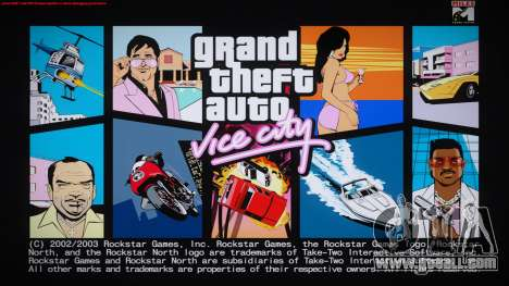 GTA Vice City Boot screens for GTA San Andreas