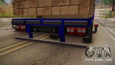 Flatbed Trailer Blue for GTA San Andreas inner view