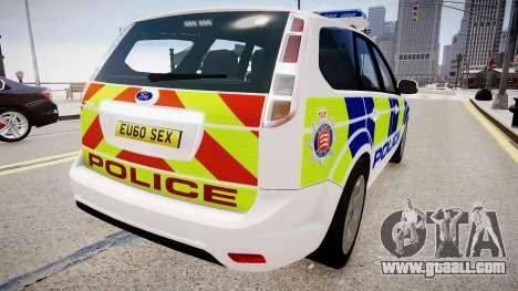 Ford Focus Estate '09 police UK for GTA 4