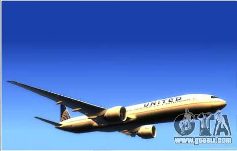 United Airlines Boeing 777-322ER - N58031 for GTA San Andreas left view