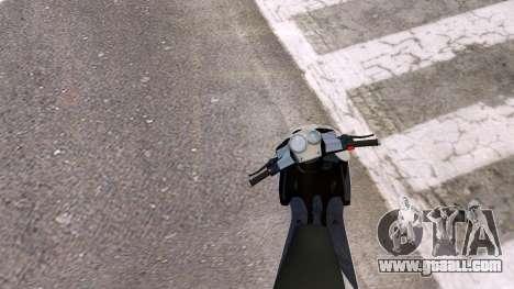 Yamaha Aerox for GTA 4 back view