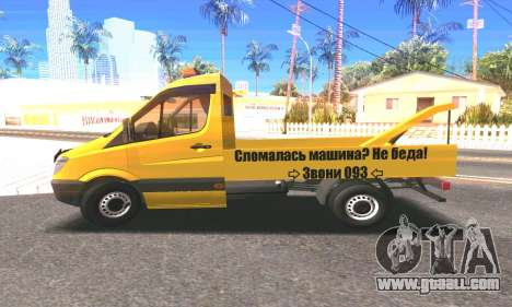 Mersedes-Benz Sprinter for GTA San Andreas back left view