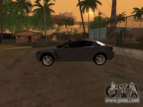 Mazda RX-8 for GTA San Andreas interior