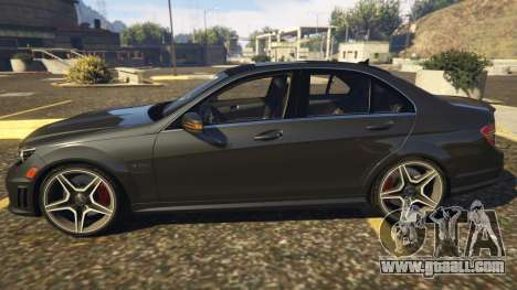 GTA 5 Mercedes-Benz C63 AMG W204 2014 left side view