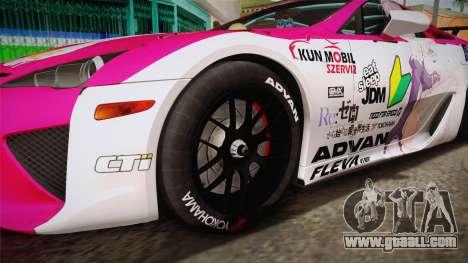 Lexus LFA Ram The Red of ReZero for GTA San Andreas