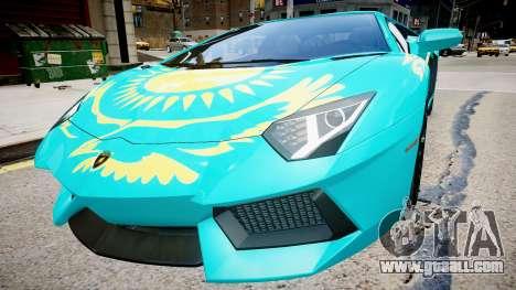 Lamborghini Aventador with a flag of Kazakhstan for GTA 4