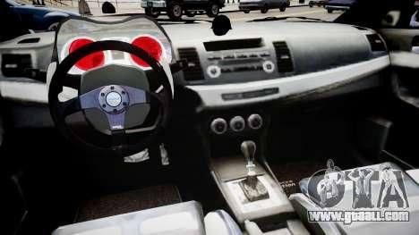 Mitsubishi Lancer Evo X for GTA 4 inner view