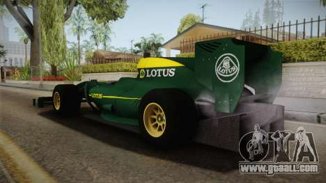 F1 Lotus T125 2011 v1 for GTA San Andreas left view