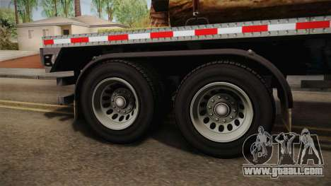 GTA 5 Log Trailer v2 IVF for GTA San Andreas back view