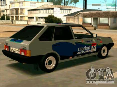 VAZ-2109 RАLLY SKIN for GTA San Andreas right view