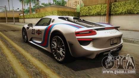 Porsche 918 Spyder 2013 EU Plate for GTA San Andreas
