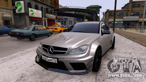 Mercedes-Benz C63 AMG 2012 v1.0 for GTA 4 right view