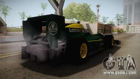 F1 Lotus T125 2011 v1 for GTA San Andreas right view