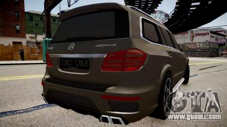 Mercedes-Benz GL63 AMG for GTA 4 left view
