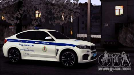 BMW X6M 2015 Russian Police for GTA San Andreas