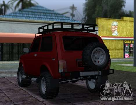 Niva 2121 4x4 Offroad for GTA San Andreas back left view