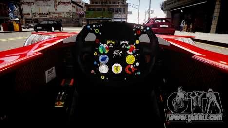 Formula 1 - LaFerrari F2007 for GTA 4 inner view